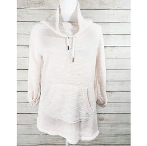 Kensie Performance Pale Pink Cowl Neck Pullover